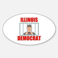 ILLINOIS CRIME LORDS Oval Decal