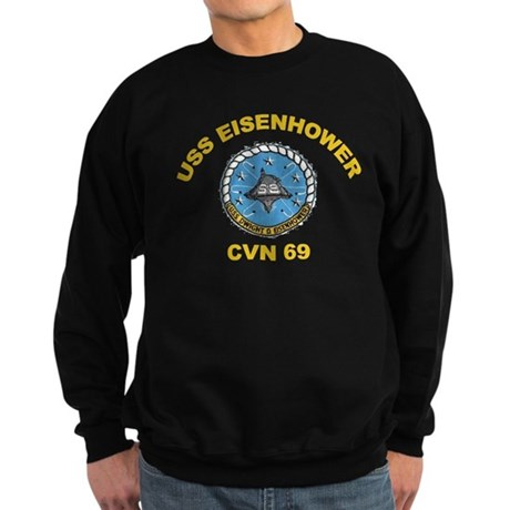 USS Eisenhower CVN-69 Sweatshirt (dark)