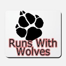 Runs With Wolves Mousepad