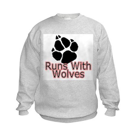 Runs With Wolves Kids Sweatshirt