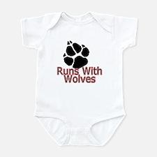 Runs With Wolves Infant Bodysuit