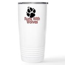 Runs With Wolves Travel Mug