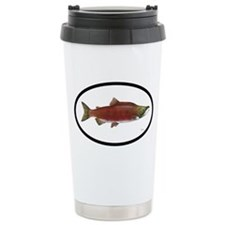 Sockeye Salmon Fishing Travel Mug