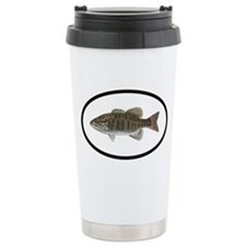 Smallmouth Bass Fishing Travel Mug