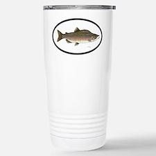 Pink Slamon Fishing Stainless Steel Travel Mug