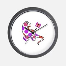 Cute Polka Dot Dinosaur Wall Clock