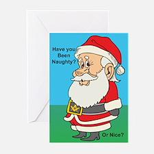 Naughty or nice Greeting Cards (Pk of 20)
