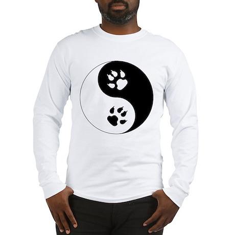 Yin Yang Cat Paws Long Sleeve T-Shirt