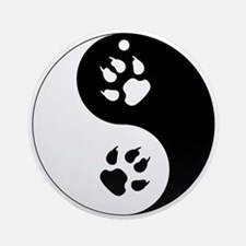 Yin Yang Cat Paws Ornament (Round)