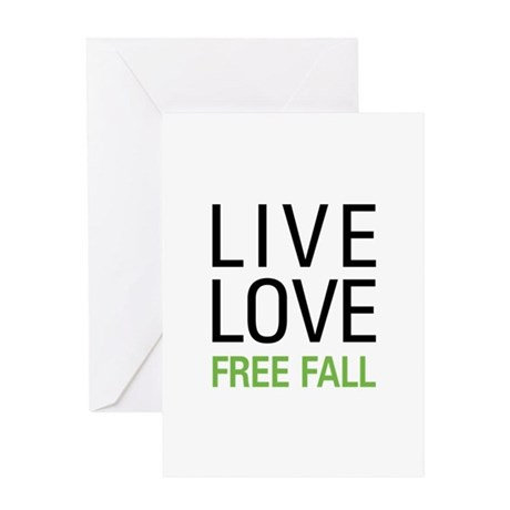 Live Love Free Fall Greeting Card