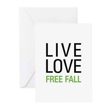 Live Love Free Fall Greeting Cards (Pk of 20)