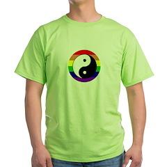 yin yang rainbow circle T-Shirt