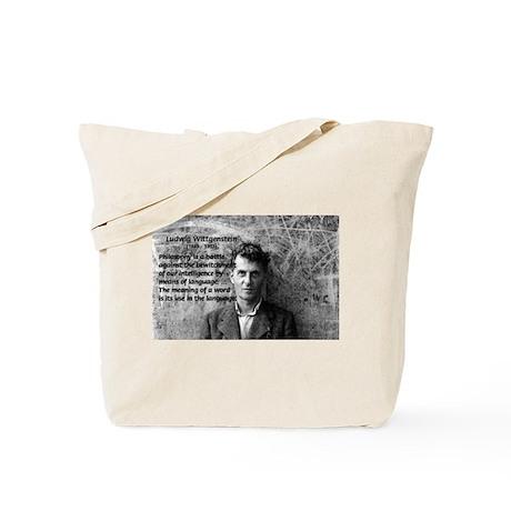 Ludwig Wittgenstein Tote Bag