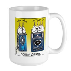 2 Ohm and 4 Ohm Amps Mug