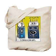 2 Ohm and 4 Ohm Amps Tote Bag