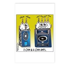 2 Ohm and 4 Ohm Amps Postcards (Package of 8)
