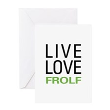 Live Love Frolf Greeting Card