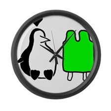 Penguin Love Large Wall Clock