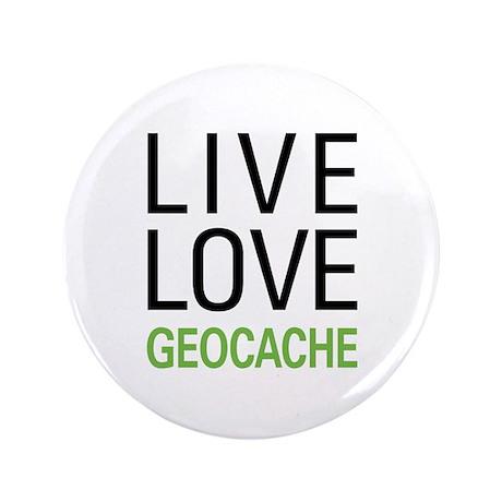"Live Love Geocache 3.5"" Button (100 pack)"