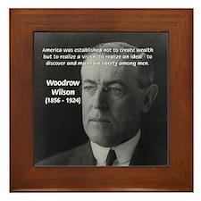 Woodrow Wilson Framed Tile