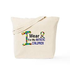 I Wear Puzzle Ribbon 21 (Children) Tote Bag