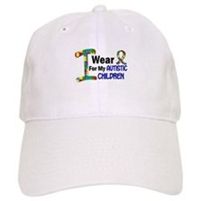 I Wear Puzzle Ribbon 21 (Children) Baseball Cap