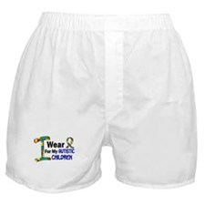 I Wear Puzzle Ribbon 21 (Children) Boxer Shorts