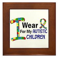 I Wear Puzzle Ribbon 21 (Children) Framed Tile