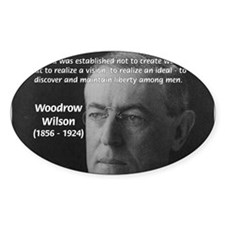 Woodrow Wilson Oval Decal