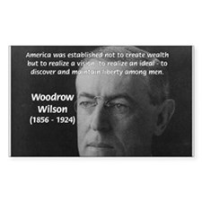 Woodrow Wilson Rectangle Decal