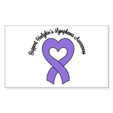 Support Hodgkin's Lymphoma Rectangle Sticker 10 p