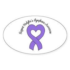 Support Hodgkin's Lymphoma Oval Sticker (10 pk)