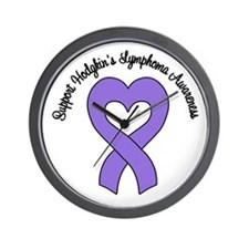 Support Hodgkin's Lymphoma Wall Clock