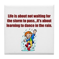 Dance in the Rain Tile Coaster