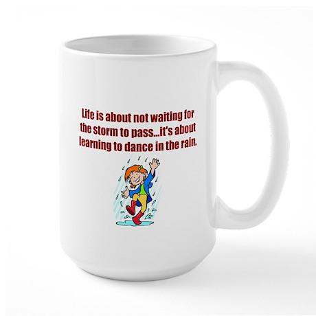 Dance in the Rain Large Mug