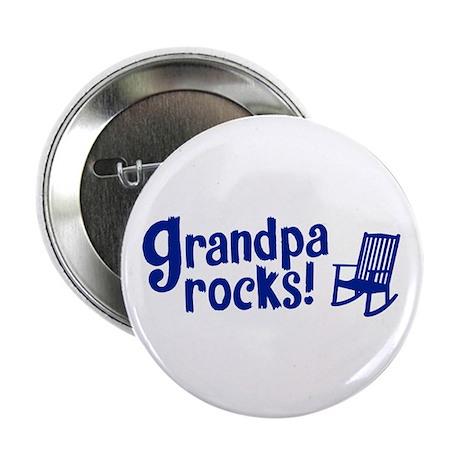"""""""Grandpa Rocks"""" 2.25"""" Button"""