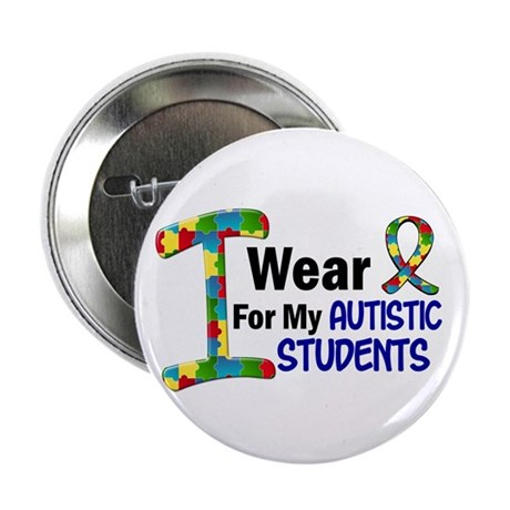 "I Wear Puzzle Ribbon 21 (Students) 2.25"" Button"