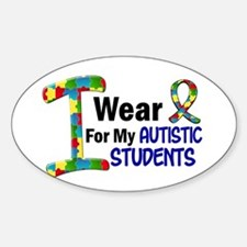I Wear Puzzle Ribbon 21 (Students) Oval Decal