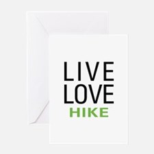Live Love Hike Greeting Card