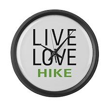 Live Love Hike Large Wall Clock