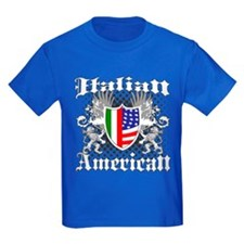 Italian American Coat of Arms Crest T