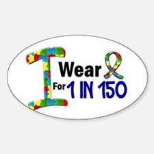 I Wear Puzzle Ribbon 21 (1 In 150) Oval Decal