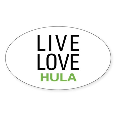 Live Love Hula Oval Sticker (50 pk)