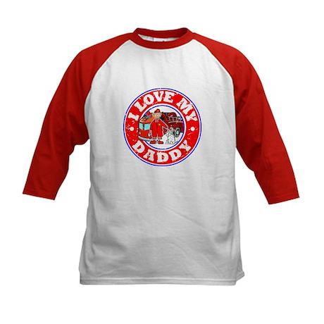 I Love my Daddy (Fire) Kids Baseball Jersey