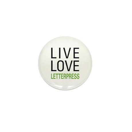 Live Love Letterpress Mini Button