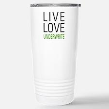 Live Love Underwrite Stainless Steel Travel Mug