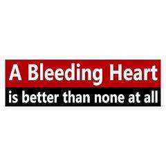 A Bleeding Heart Bumper Bumper Sticker