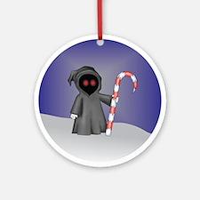 Christmas Grim Reaper Ornament (Round)
