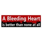 Bleeding Heart Bloody Bumper Sticker