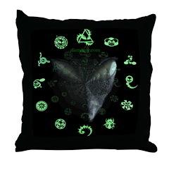 Zeta Crop Alien Throw Pillow